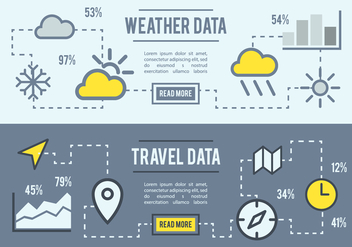 Free Weather And Travel Data Vector Background - Free vector #377685