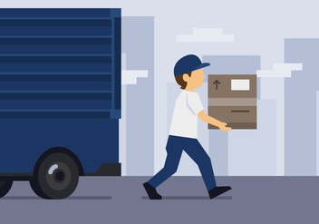 Vector Delivery Man - Free vector #377745