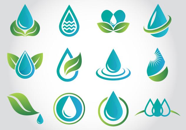 Free Aqua Water Logo Vectors - vector gratuit #377755