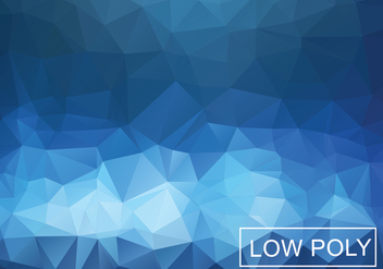 Cobalt Geometric Low Poly Style Illustration Vector - Kostenloses vector #377825