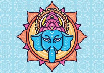 Hindu elephant head God Lord Ganesh. Hinduism. Happy Ganesh Chaturthi. - vector gratuit #378015