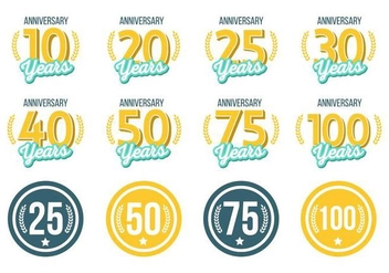 Free Anniversary Vector - Free vector #378155