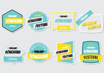 Songkran Stickers - Kostenloses vector #378165