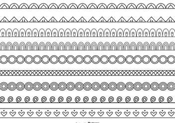 Cute Border Set - Free vector #378185