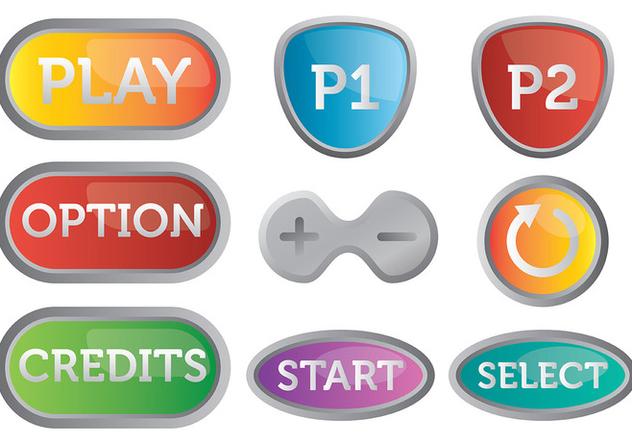 Free Arcade Button Icons Vector - Free vector #378265