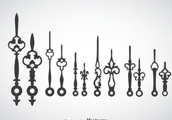 Clock Hands Vector - Kostenloses vector #378295