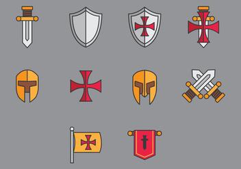 Templar Icon Vectors - Free vector #378355