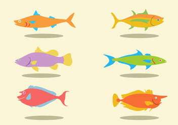Various Fishes Vector - Free vector #378405