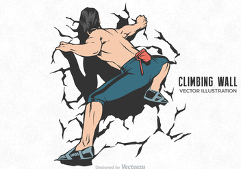 Free Vector Climbing Wall Illustration - Free vector #378475