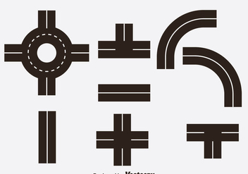 Road Icons Vector - Kostenloses vector #378595