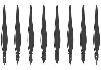 Free Pen Nibs Vector - Free vector #378645