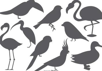 Vector Bird Shape Collection - Free vector #378805