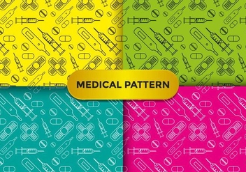 Colorful Medical Pattern Vectors - Free vector #378925