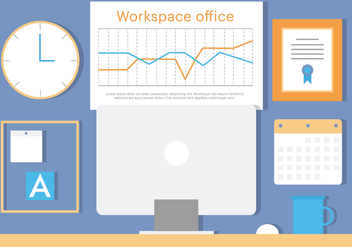 Free Business Office Vector Illustration - Free vector #379075