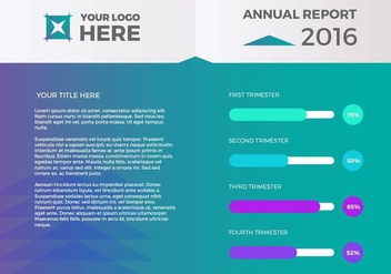 Free Annual Report Vector Presentation 1 - бесплатный vector #379105