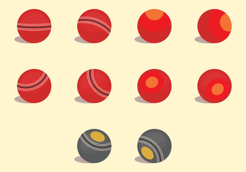 Lawn Bowls Icon Set - vector gratuit #379155
