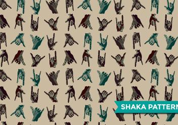 Shaka Modern Pattern Vector - Free vector #379295