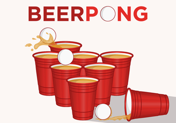 Let's Play Beer Pong! - Free vector #379655