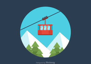 Free Flat Cable Car Vector - бесплатный vector #379735