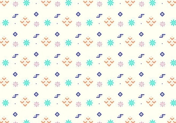 Fun Geometric Shapes Pattern - vector gratuit #379755