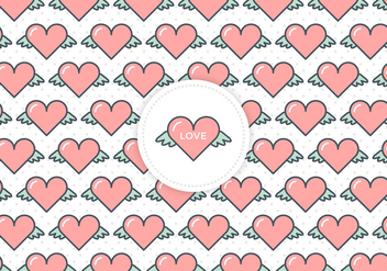 Free Flying Hearts Love Vector Background - Kostenloses vector #379765