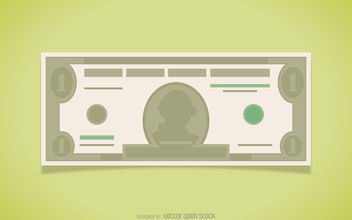 Dollar bill illustration - vector gratuit #380135