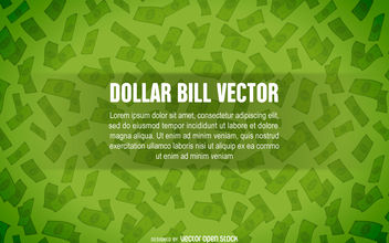 Dollar bill background - vector #380145 gratis