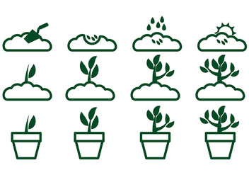 Grow Up Plant Icon Vector 2 - Free vector #380295