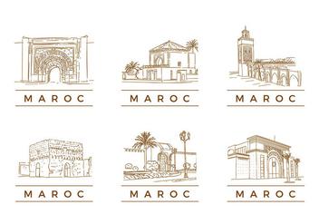 MAROC TOURIST LANDMARK VECTOR - vector #380515 gratis