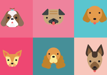 Flat Doggies - Free vector #380655