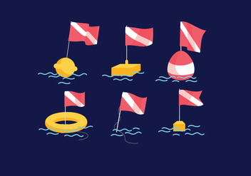 Dive Flag Vector - vector #380765 gratis