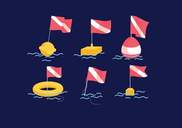 Dive Flag Vector - Free vector #380765