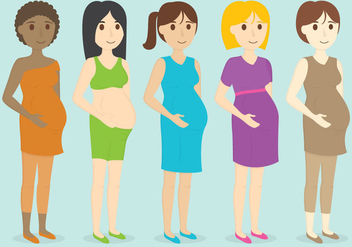 Pregnant Characters - Free vector #381245