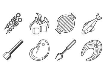 Free Barbeque Icon Vector - Free vector #381295