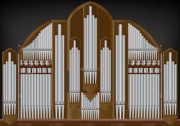 Pipe Organ Vector - Kostenloses vector #381395