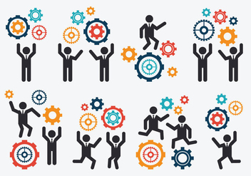 Free Working Together Vector - vector gratuit #381545