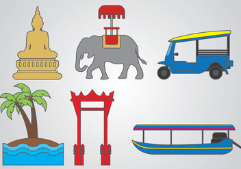 Bangkok Vector - vector gratuit #381565