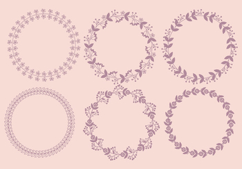 Vector Floral Wreaths - Free vector #381635