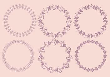 Vector Floral Wreaths - Kostenloses vector #381635