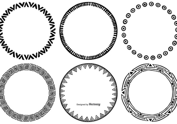 Sketchy Round Frames - Free vector #381665