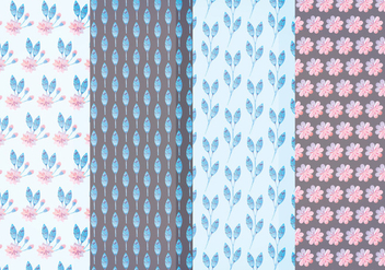 Vector Pastel Floral Patterns - Kostenloses vector #381715
