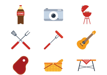 Picnic Flat Icon - Free vector #381765