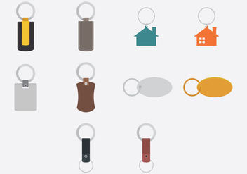 Key Chains Template Icon Set - vector gratuit #381875