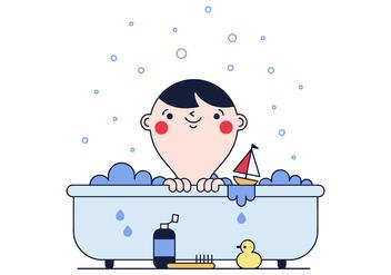 Free Baby Bath Vector - Free vector #382055