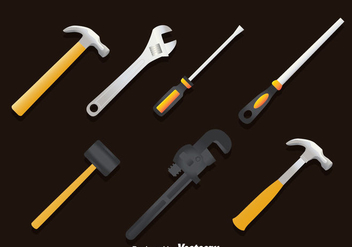 Work Tools Vector Set - vector #382155 gratis