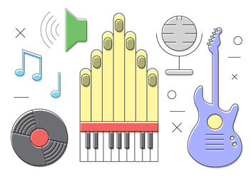 Free Vector Musical Instruments - Free vector #382335