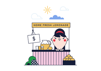 Free Lemonade Stand Vector - Free vector #382355