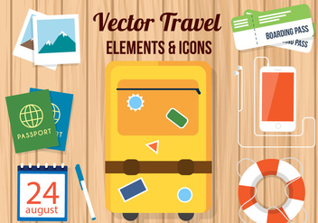 Free Vector Travel Accessories - vector #382375 gratis