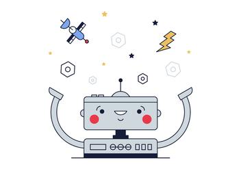 Free Robot Vector - Free vector #382385