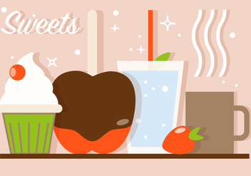 Free Sweet Cafe Vector Illustration - Free vector #382545